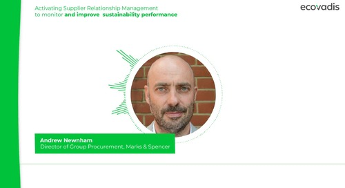 Marks & Spencer on Supplier Relationship Management and Improving Sustainability Performance