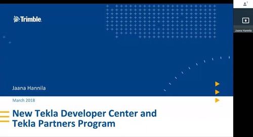 New Tekla Developer Center and Tekla Partners Program