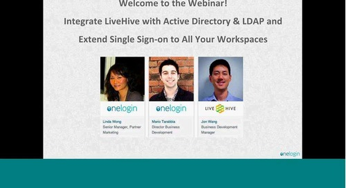 Integrate LiveHive with AD/LDAP & Extend SSO to All Your Workspaces