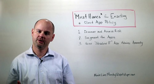 Movie Line Monday 39 - Enacting Cloud App Policy Must-Haves
