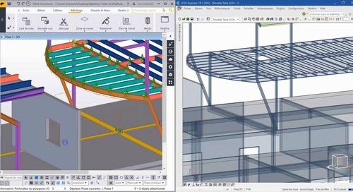 Interopérabilité entre Tekla Structures, SCIA Engineer et IDEA Statica