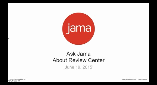 Ask Jama About Review Center