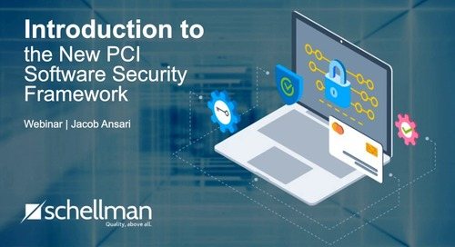 Introduction to the New PCI Software Security Framework