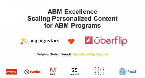 From ABM Pilot to Excellence: Scaling Personalized Content for Your Account-Based Programs