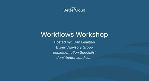 Leveling Up Your Workflows