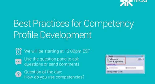 Archived Webinar: Best Practices for Competency Profile Development
