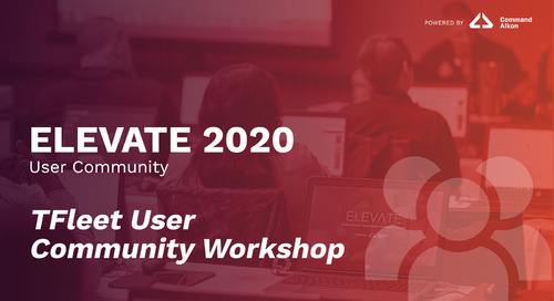 TFleet User Community Workshop | ELEVATE 2020