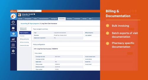 Billing and documentation: AlayaCare's home and specialty infusion software