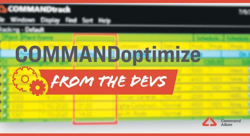 Introducing COMMANDoptimize | Version 2020.3