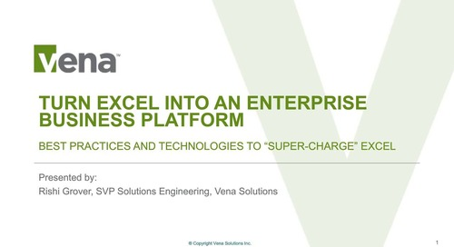 Turn MS Excel into an Enterprise Business Platform