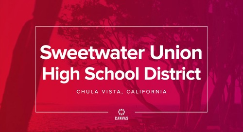 Sweetwater Union School District and Canvas
