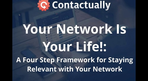 [RESAAS Webinar] Your Network Is Your Life!: A Four Step Framework for Staying Relevant with Your Network