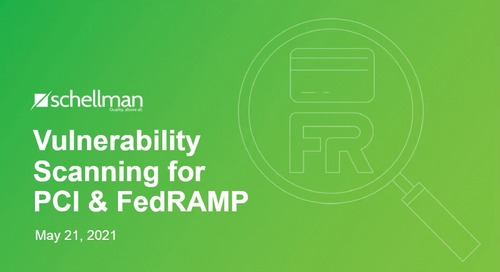 Vulnerability Scanning for PCI and FedRAMP