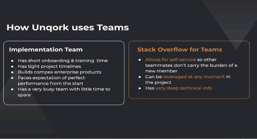 Webinar: Unqork & Stack Overflow Teams