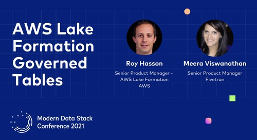 Simplifying Data Lake Management Using AWS Lake Formation Governed Tables