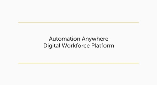 Automation Anywhere Digital Workforce Platform
