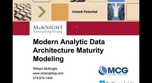 Webinar - Modern Analytic Data Architecture Maturity Modeling with Matillion and Dataversity