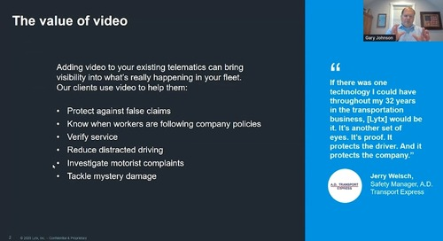 Diverting Risk through Lytx Video Safety Technology
