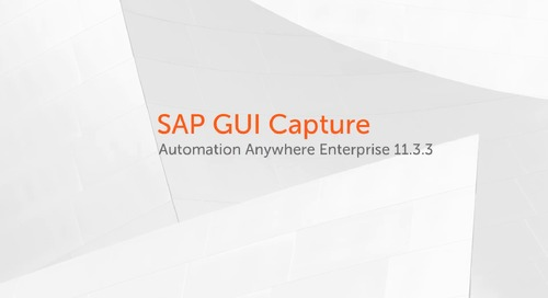 Enterprise 11.x Use Cases - SAP GUI Capture