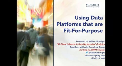 Dataversity Webinar - Using Data Platforms That Are Fit-For-Purpose