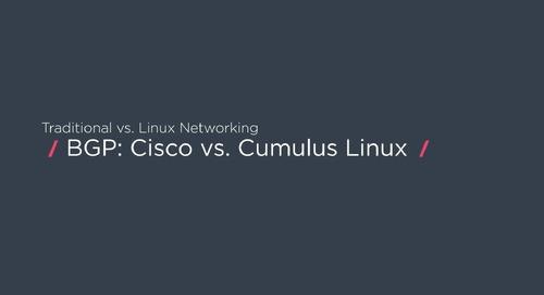 How to configure BGP with Cisco vs. Cumulus Linux