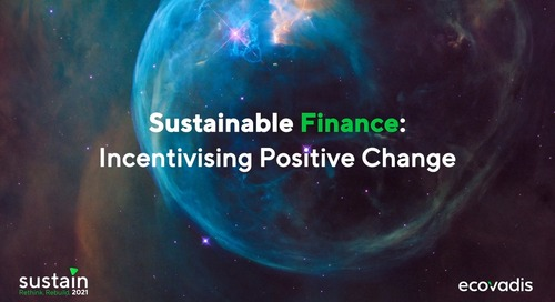 Sustainable Finance- Incentivising Positive Change