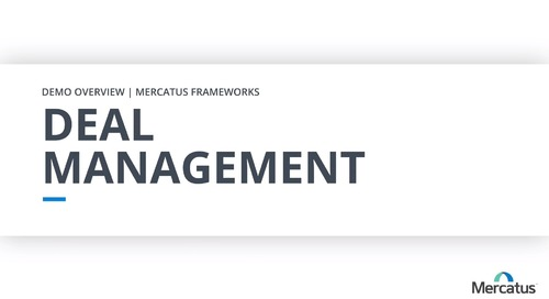 Deal Management - Overview Demo