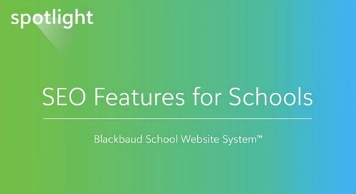 SEO Features for Schools