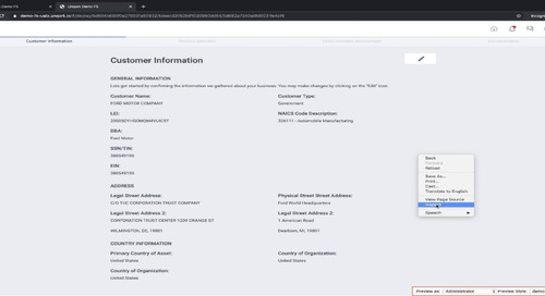 Demo: Institutional Client Onboarding