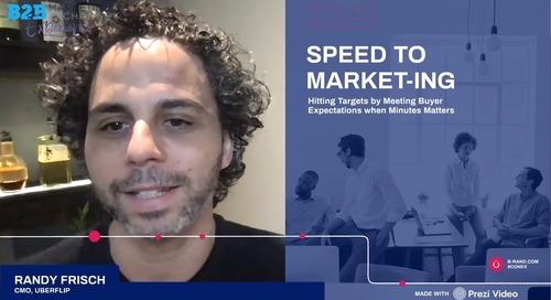 Speed to Market-ing