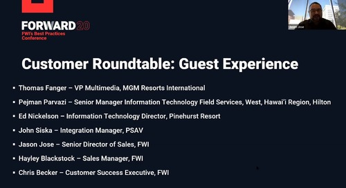 Customer Roundtable - Guest Experience