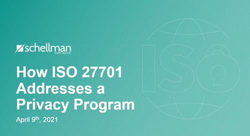 How ISO 27701 Addresses a Privacy Program