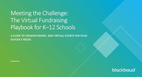 Meeting the Challenge: The Virtual Fundraising Playbook for K–12 Schools