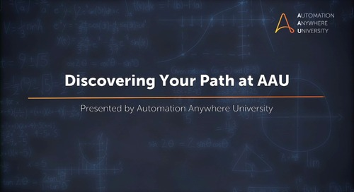 Automation Anywhere University: Discovering Your Path