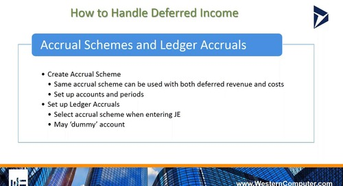 How to Handle Deferred Income in D365 for Finance and Operations