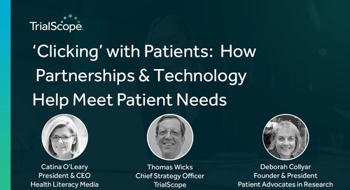 'Clicking' with Patients - How Partnerships & Technology Help Meet Patient Needs