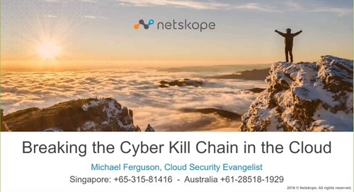 Breaking the Ransomware Kill Chain in the Cloud