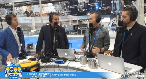 The ConTechCrew at AU 2018: Interview with Andy Leek from Paric