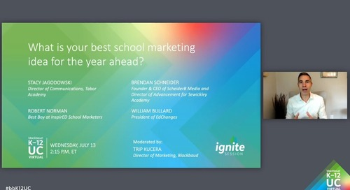 What is your best school marketing idea for the year ahead?