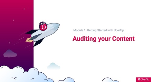 1.1 Auditing your Content