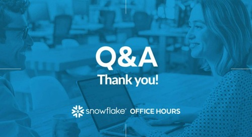 Snowflake Office Hours - edX