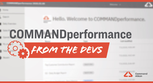 Introducing COMMANDperformance | Version 2020.2