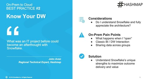 Webinar - How to Consolidate and Migrate a Data Warehouse and Data Lake to the Cloud
