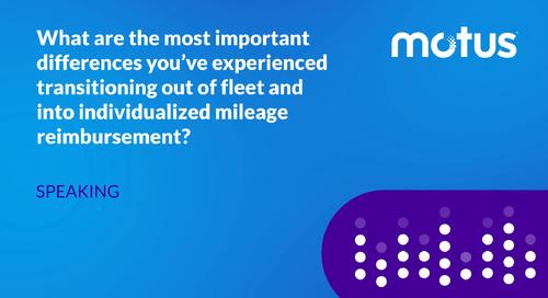 Differences Between Fleet and Individualized Mileage Reimbursement