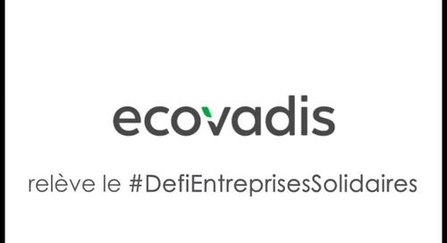 EcoVadis relève le #DefiEntreprisesSolidaires