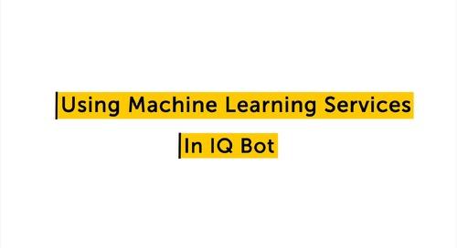 IQ Bot How to - Using machine learning and custom logic