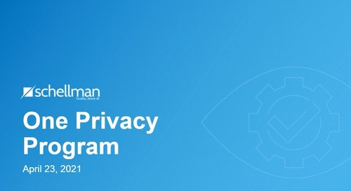One Privacy Program Overview