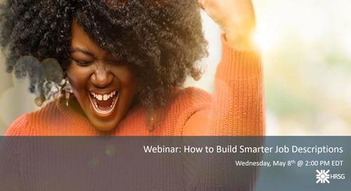 HRSG Webinar: How to Build Smarter Job Descriptions