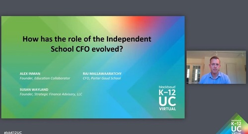 How is the role of the CFO changing at private schools?