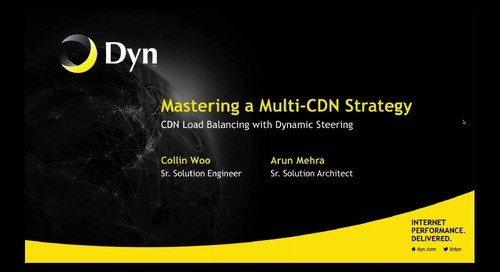 Mastering a Multi-CDN Strategy
